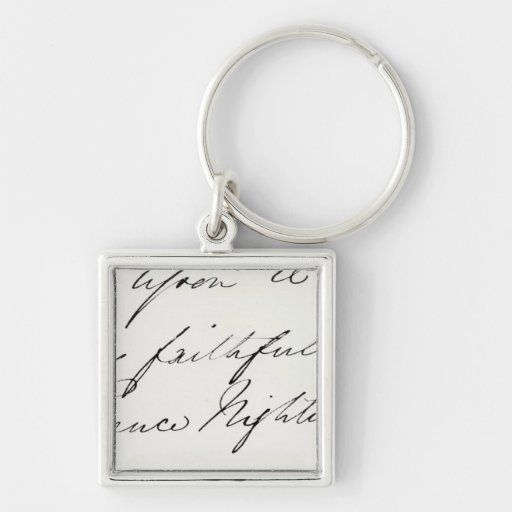 Signature of Florence Nightingale Keychain