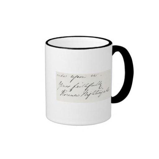 Signature of Florence Nightingale Mug