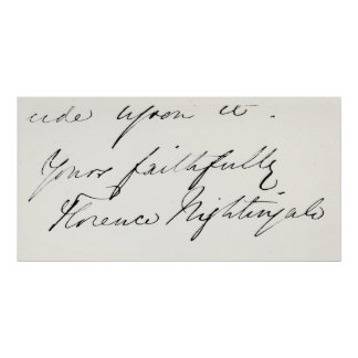 Signature of Florence Nightingale Posters