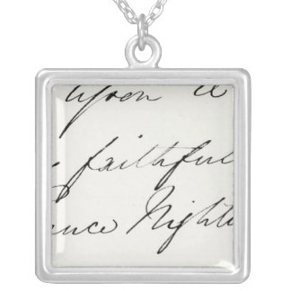 Signature of Florence Nightingale Silver Plated Necklace