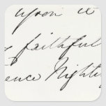 Signature of Florence Nightingale Square Stickers