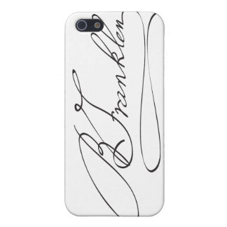 Signature of Founding Father Benjamin Franklin Cases For iPhone 5