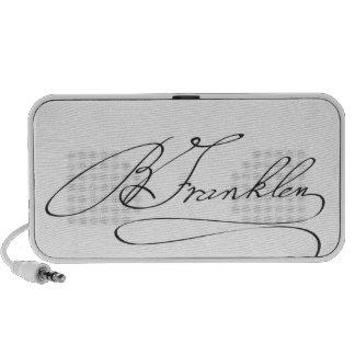 Signature of Founding Father Benjamin Franklin Laptop Speakers
