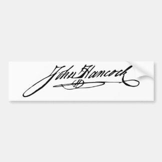 Signature of Founding Father John Hancock Bumper Sticker