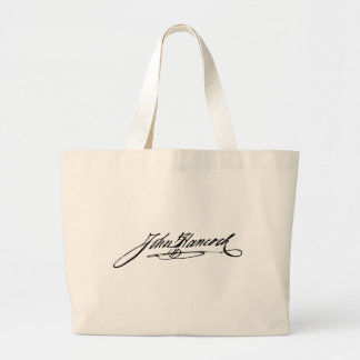 Signature of Founding Father John Hancock Large Tote Bag