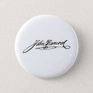 Signature of Founding Father John Hancock Pinback Button