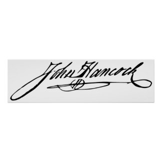 Signature of Founding Father John Hancock Posters