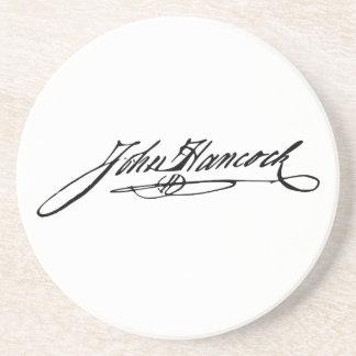 Signature of Founding Father John Hancock Sandstone Coaster