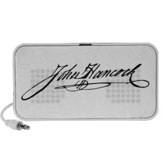 Signature of Founding Father John Hancock Laptop Speakers