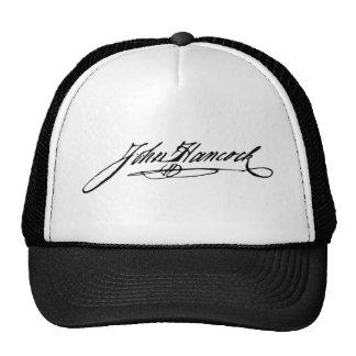 Signature of Founding Father John Hancock Trucker Hat
