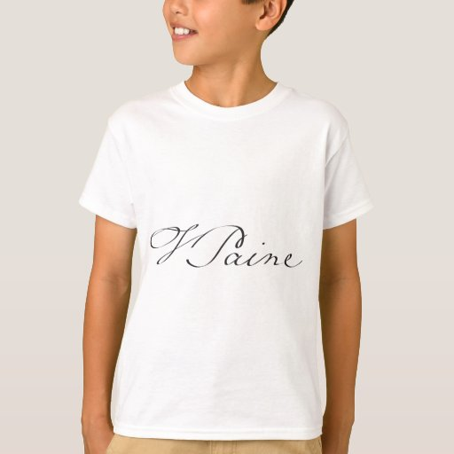 Signature of Founding Father Thomas Paine T-Shirt