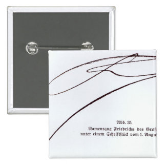Signature of Frederick the Great 2 Inch Square Button