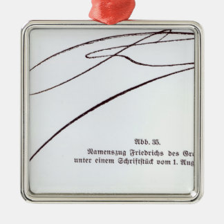 Signature of Frederick the Great Metal Ornament