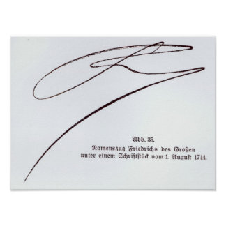 Signature of Frederick the Great Poster