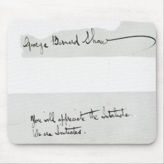 Signature of George Bernard Shaw Mouse Pad
