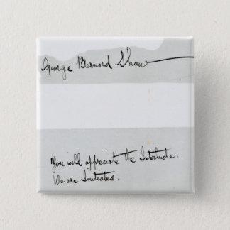 Signature of George Bernard Shaw Pinback Button
