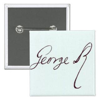 Signature of George II 2 Inch Square Button