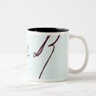 Signature of George II Two-Tone Coffee Mug