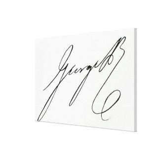 Signature of George IV Canvas Print