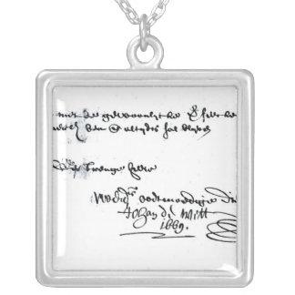 Signature of Johan de Witt Silver Plated Necklace