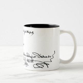 Signature of Johan de Witt Two-Tone Coffee Mug