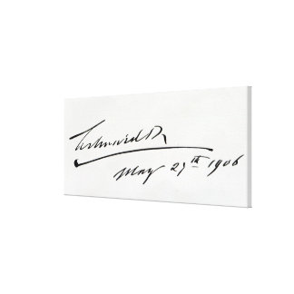 Signature of King Edward VII, May 29th 1906 Gallery Wrapped Canvas