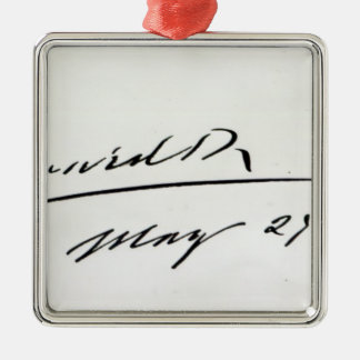 Signature of King Edward VII, May 29th 1906 Metal Ornament
