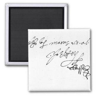 Signature of Lady Jane Grey Magnet