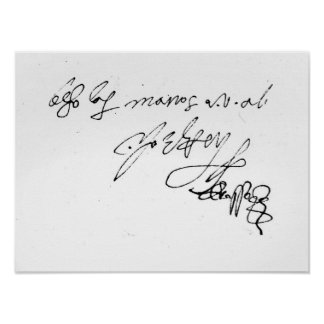 Signature of Lady Jane Grey Poster