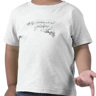 Signature of Lady Jane Grey T-shirts