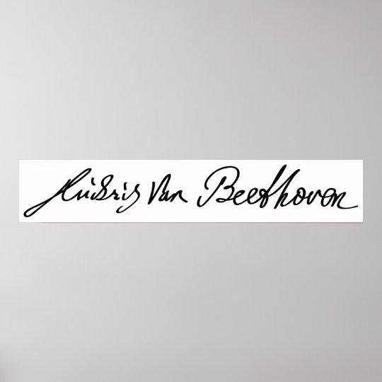 Signature of Musician Ludwig van Beethoven Poster