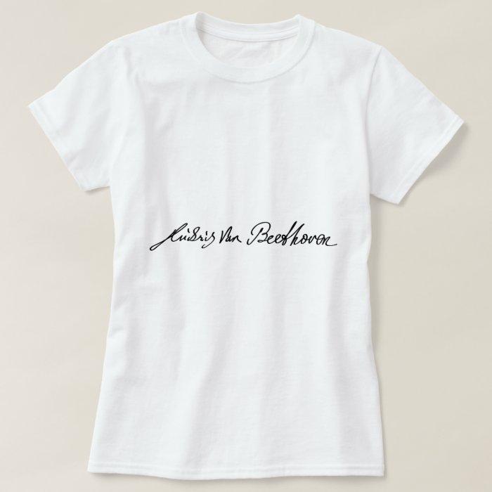 Signature of Musician Ludwig van Beethoven T-Shirt