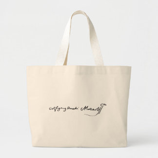 Signature of Musician Wolfgang Amadeus Mozart Canvas Bags