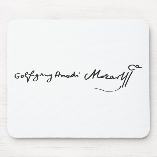 Signature of Musician Wolfgang Amadeus Mozart Mouse Pad