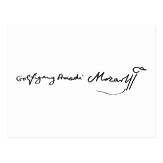 Signature of Musician Wolfgang Amadeus Mozart Post Cards