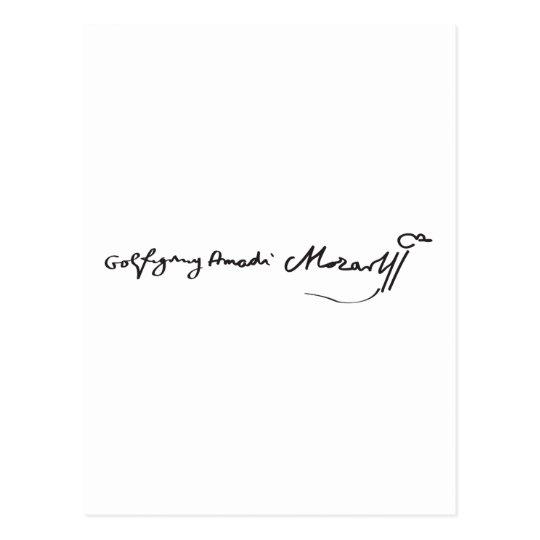 Signature of Musician Wolfgang Amadeus Mozart Postcard