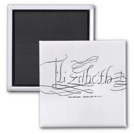 Signature of Queen Elizabeth I Refrigerator Magnet