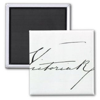 Signature of Queen Victoria (pen and ink on paper Magnet