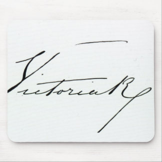 Signature of Queen Victoria (pen and ink on paper Mouse Pad