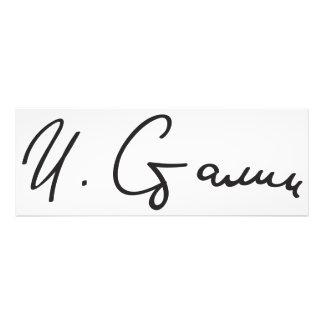 Signature of Soviet Union Premier Joseph Stalin Photo Print