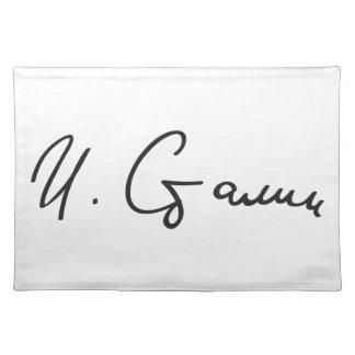 Signature of Soviet Union Premier Joseph Stalin Placemat