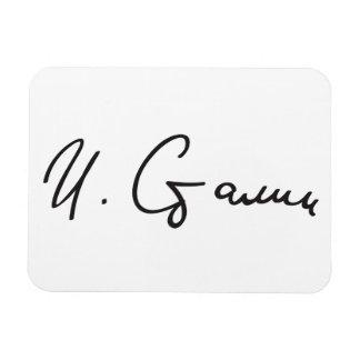 Signature of Soviet Union Premier Joseph Stalin Rectangular Photo Magnet