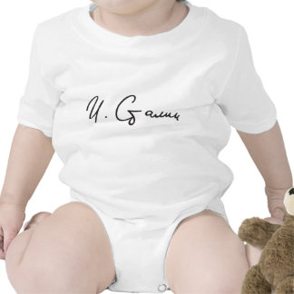 Signature of Soviet Union Premier Joseph Stalin Baby Bodysuit
