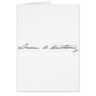 Signature of Suffragette Susan B. Anthony Card