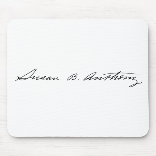 Signature of Suffragette Susan B. Anthony Mouse Pad
