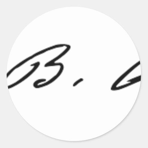 Signature of Suffragette Susan B. Anthony Sticker