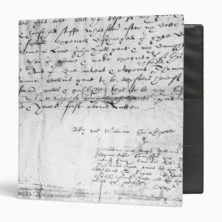 Signature of William Shakespeare , 1616 Binder