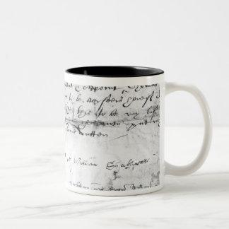 Signature of William Shakespeare , 1616 Two-Tone Coffee Mug
