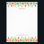 """Signature Polka Dots Custom Business Letterhead<br><div class=""""desc"""">Just because you're at the office, doesn't mean you should send boring letters. Keep your communication fun with this bright and bubbly custom letterhead. The top and bottom edges are adorned with funky polka dots arranged into an intricate pattern. Customize with your personal or business information in coordinating pink text....</div>"""