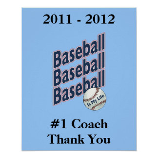 Signature Poster for #1 Baseball Coach